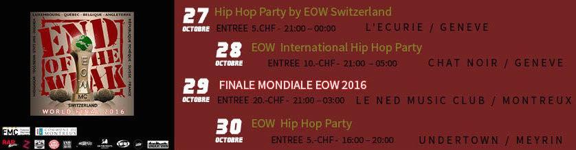 EOW, la Suisse accueille les meilleurs !